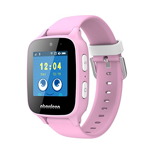 ABARDEEN B108 2G GPS GSM Tracker Smart Watch Bracelet with Camera for Kids Anti Lost SOS Waterproof IP65 Support Android IOS (Pink)