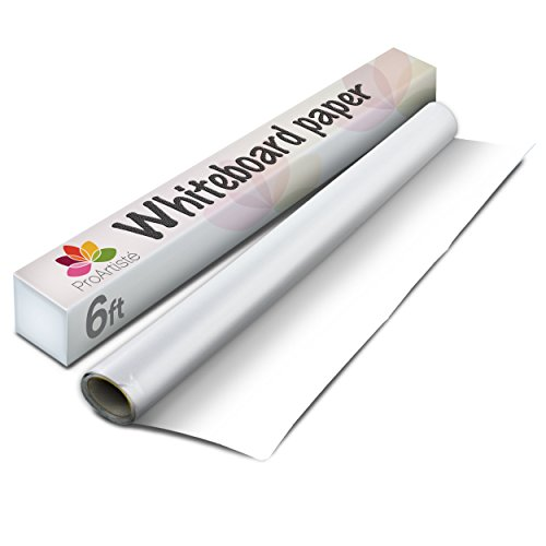 Chalk This Way Whiteboard Drawing Paper Roll. Easy-Stick, Removable. Ideal For Message, Bulletin, Planning & Artist Drawing Boards. Excellent For Children's Drawing. 6' x 18