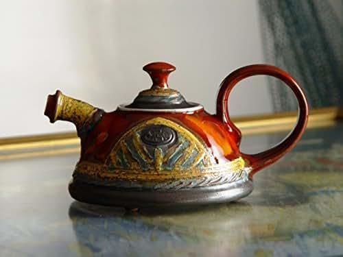 Cute and Tiny Handmade Teapot, Pottery Tea Pot for One. Sweet Ceramic Gift, Clay Teapot, Ceramic Art, Danko Handmade Pottery, Birthday Gift