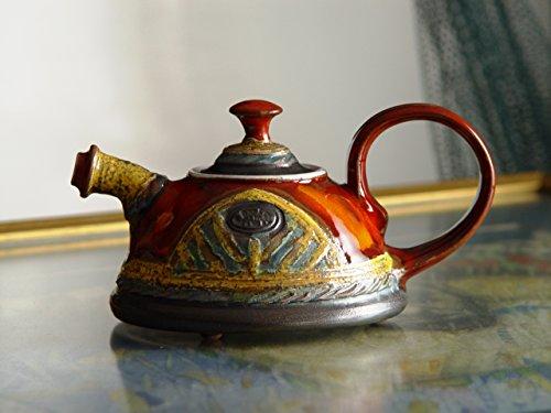 (Cute and Tiny Handmade Teapot, Pottery Tea Pot for One. Sweet Ceramic Gift, Clay Teapot, Ceramic Art, Danko Handmade Pottery, Birthday Gift)