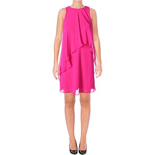Lauren by Ralph Lauren Women's Lonia Georgette Dress Tropic Pink 16