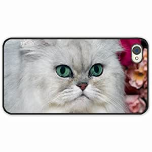 iPhone 4 4S Black Hardshell Case furry muzzle Desin Images Protector Back Cover