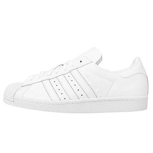 Adidas Men's Superstar 80s, WHITE/WHITE, 10 M US