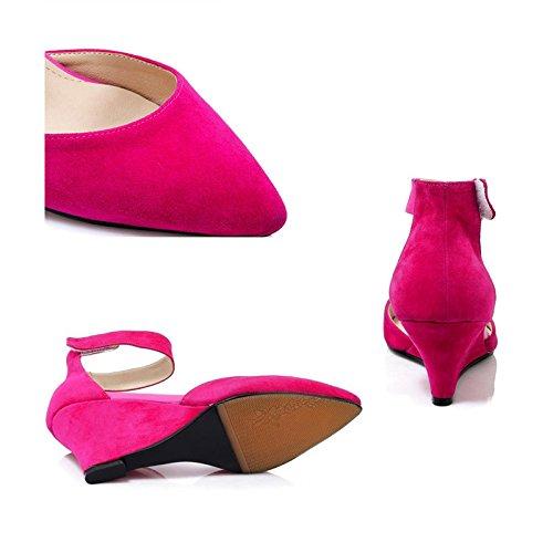 JIANXIN Damenmode Trend High Sehne) Heels TPR (Rindfleisch Sehne) High Rot Schwarz Sandalen. (Farbe : Magenta, größe : 39) Magenta 7b64bc