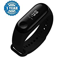 Enraciner M3 Smart Fitness Band Activity Tracker with Heart Rate Sensor Compatible for All Androids/iPhone Device
