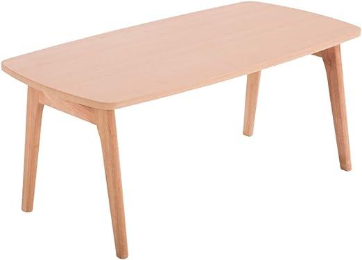 Mesa pequeña de café simple, material de madera maciza, lateral ...