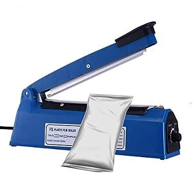 OSFT 8 inch Package Sealing Machine Plastic Vacuum Tool Heat Hand Sealer (8 Inch, Blue) 9