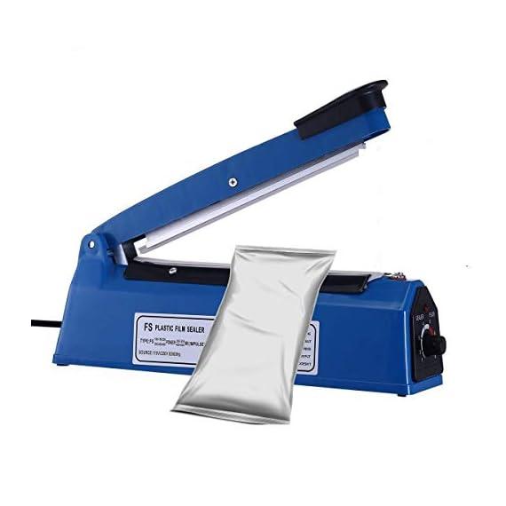 OSFT 8 inch Package Sealing Machine Plastic Vacuum Tool Heat Hand Sealer (8 Inch, Blue) 2