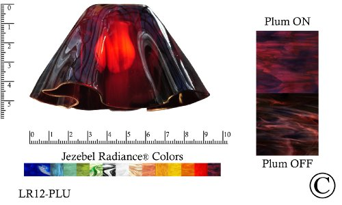 Purple Lily Shade - Jezebel Radiance® Small Lily Purple Violet Plum Glass Pendant/Ceiling Fan Light Replacement Glass Shade, 1 5/8