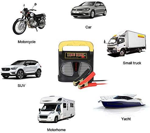 AOKBON Cargador Baterias Coche Moto 6A 6V//12V//24V Mantenimiento de bater/ía Autom/ático Inteligente Protecci/ón M/últiple para Autom/óviles Motocicletas ATVs RVs Barco