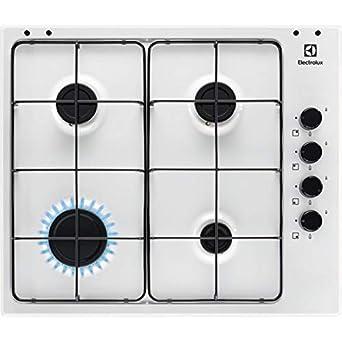 Encimera Cocina a gas 4 fuegos ancho 60 cm color blanco ...