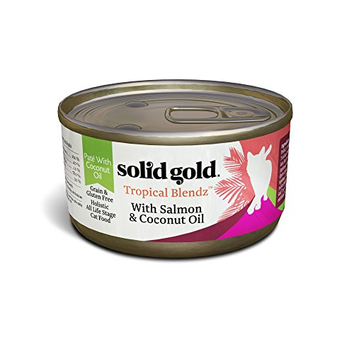 Solid Gold Coconut Oil Pate Wet Cat Food; Tropical Blendz Gr
