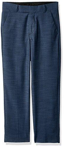 Calvin Klein Flat Front Suit - Calvin Klein Big Boys' Flat Front Dress Pant, Blue Weave, 12
