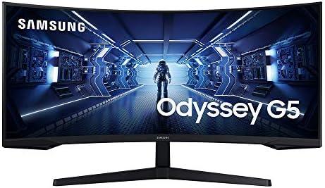 """Samsung 34″"""" Odyssey G5 Gaming Monitor – UWQHD 165Hz HDR AMD FreeSync (2020) (LC34G55TWWNXZA) [Canada Version], Black"""