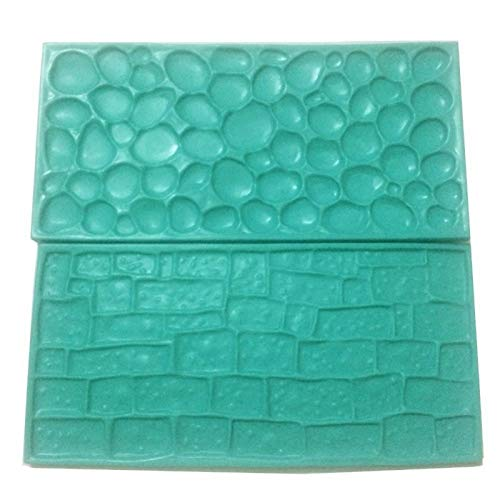 1 piece 2pcs/set Texture Silicone Mold Of Tree Bark + Brick Wall Silicone Mat Fondant Cake Decorating Tools Bakeware