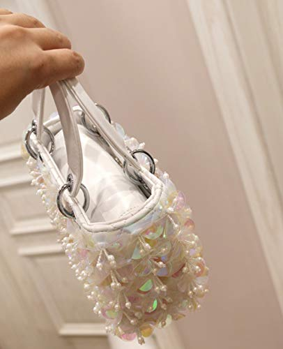 Wedding Beaded Women White Dinner For Handbags Evening Purse Flowered And Bags Clutch Bags q5PxOntn