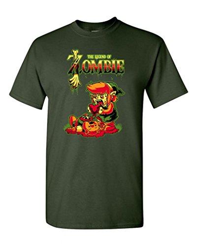 Legend of Zombie DT Adult T-Shirt Tee (XXXX Large, Forest (Blood Elf Shirt)