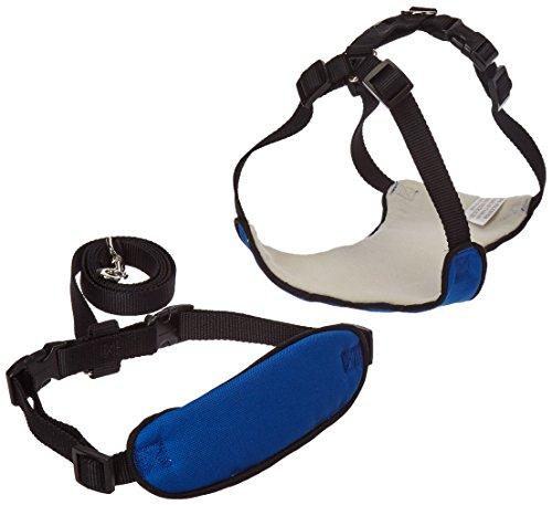 Guardian Gear Nylon Lift & Lead 4-In-1 Dog Harness, Medium, Blue