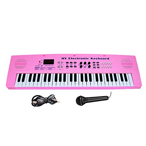 Keyboard Piano for Kids Fresh Household Kids Piano 54 Keys Electronic Musical Instrument with Microphone and MP3 Input for Christmas Birthday Gift