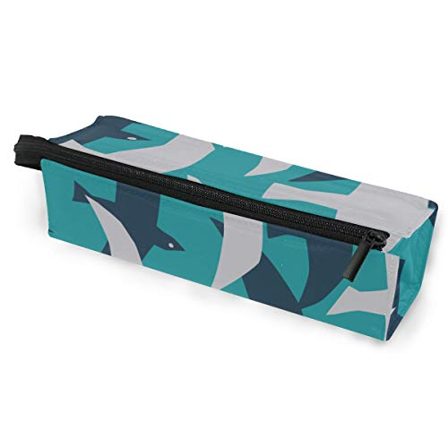 Pen Holder/Stationery Cosmetic Makeup Bag Pouch Round Case Albatross Flying Animal Wild Minimalist Print Polyester Zipper Pencil Bag Multi-Function Glasses Storage Bag -