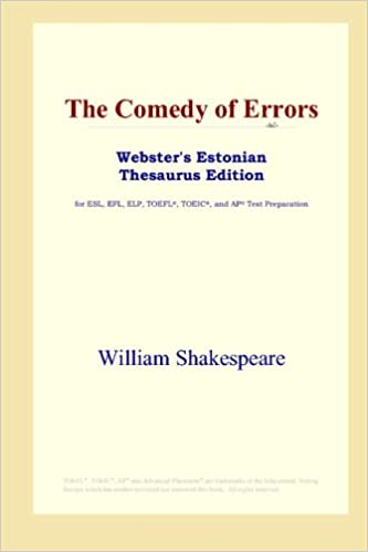 Book The Comedy of Errors (Webster's Estonian Thesaurus Edition)