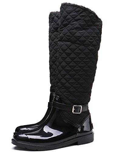 Boots Boots Zipper Black Snow Women's Patchwork Rain Fashion TONGPU XqwI0x1AP