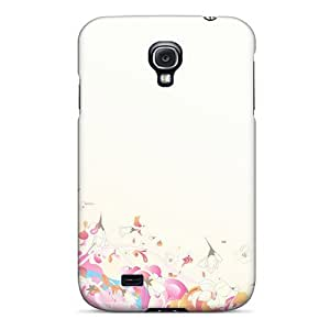 High Impact Dirt/shock Proof Case Cover For Galaxy S4 (flowers)