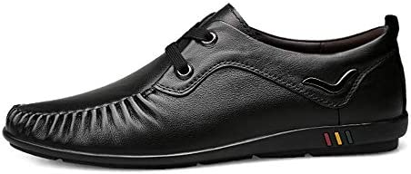 Floren Mocassini for Il Vestito degli Uomini di Affari Genuine Leather Wedding Incontri Guida Casual Shoes Leggero Traspirante Antiscivolo Lace Up Piatto Slip-on