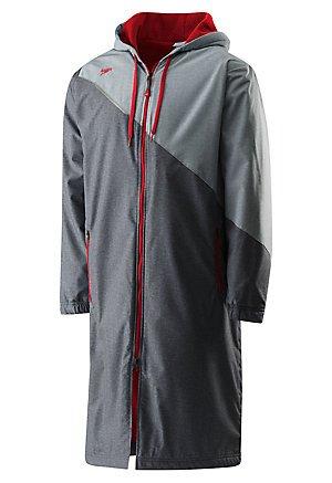 Speedo Unisex Color Block Parka Jacket, Medium , Red - Speedo Block