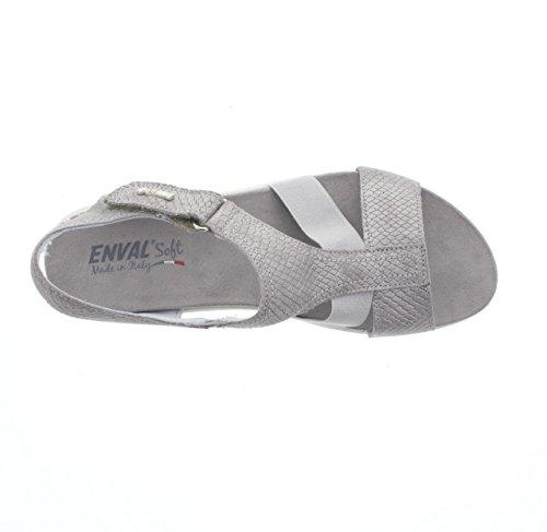 ENVAL SOFT - Sandalias de vestir de Piel para mujer FUCILE grigio - 400