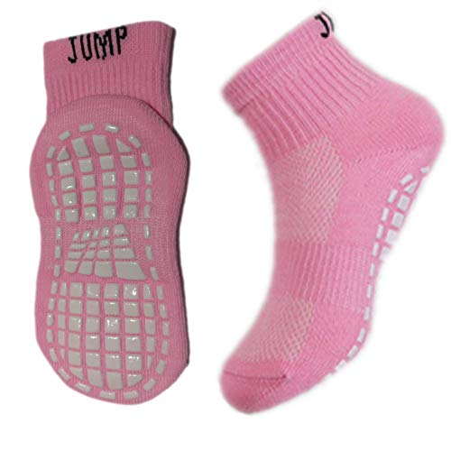 Price comparison product image NON SKID SOCKS FOR TODDLERS (12-16 CM / 4.7-6.3 INCH),  NON SLIP,  STICKY,  GRIP,  KIDS,  PINK WHITE (1)