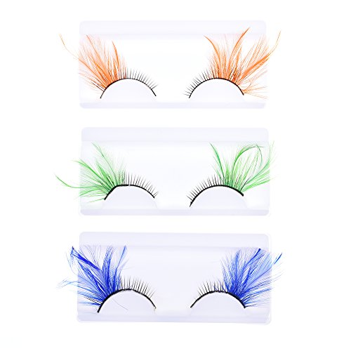 [KLOUD City Deluxe Party Stage Feather False Eyelashes Eye Lashes] (Halloween Accessories Party City)