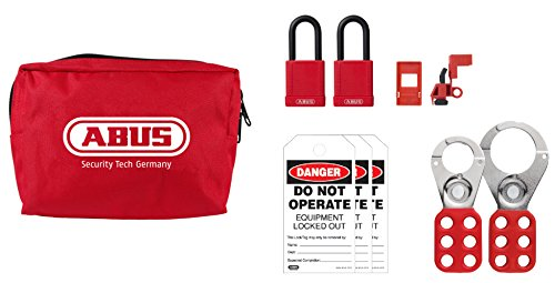 ABUS K900 Safety Lockout Tagout Personal Safety Pouch Kit, Small ()