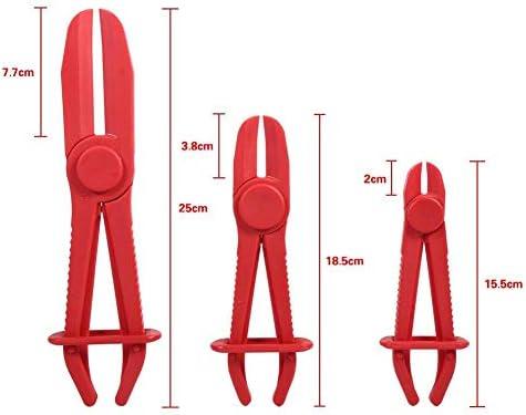 JALAL Hose Clamp Pliers, 3Pcs Nylon Fuel Water Line Clamp Tool Hose Pinch Pliers
