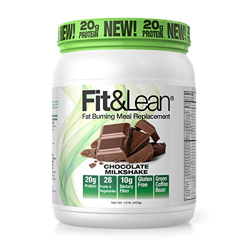 Fit & Lean Meal Shake Fat Burning Meal Replacement with Protein, Fiber, Probiotics and Organic Fruits & Vegetables and…