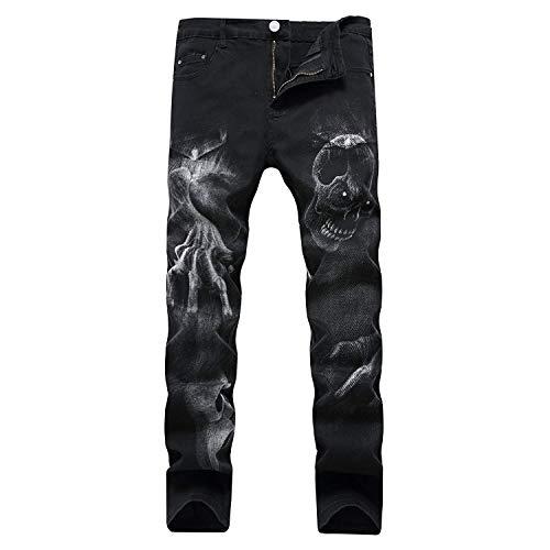 2018 Diseño De Moda De Único Hombres Skinny Los Hombres Patrones Vaqueros Negros Hombres Los Hombres Pantalones Vaqueros Atractivos con La Norma En Imprime La Pierna Derecho Adelgaza Los Stil3