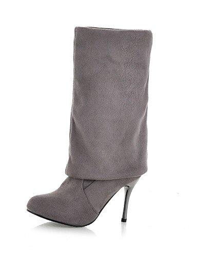 us8 De Zapatos Gris Sintético Punta Stiletto Casual Marrón Uk6 Ante A Vestido Mujer Moda Cn39 Botas La Tacón Cn Eu39 Redonda Negro Xzz Gray HwqAxH