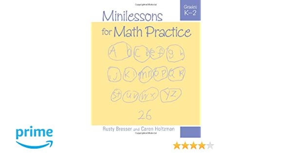 Amazon.com: Minilessons for Math Practice, Grades K-2 ...