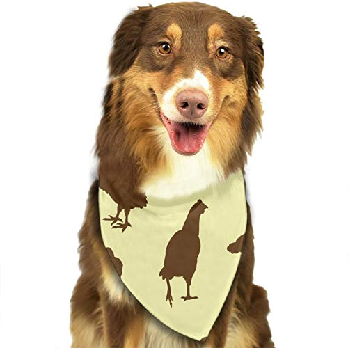 Pet Scarf Dog Bandana Bibs Triangle Head Scarfs Chicken Shadow Accessories for Cats Baby Puppy ()