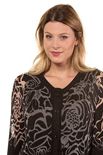 OversizeEffet Popken Femme Tailles Ouvert Dévoré Ulla 718835 Grandes Noir Cardicool FJlKc1