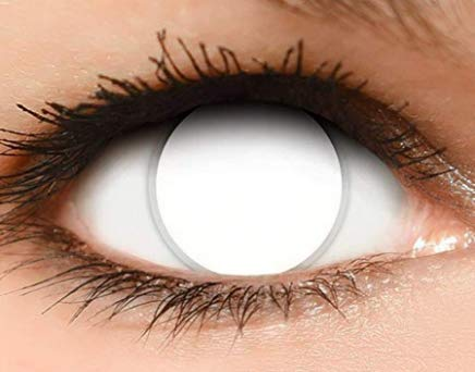 Women Multi-Color Contact Lenses Cosplay Eyes Cute Colored Charm and Attractive Cosmetic Makeup Eye Shadow (white)