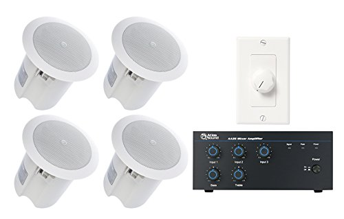 Retail Store Sound System with Atlas Sound Speakers, Mixer Amplifier, and Volume Control
