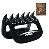 Tetako BBQ Meat Shredder Claws,Kitchen Bear Claws Meat Shredders - Pulled Pork Claws - Great for Chicken, Beef, Pork, More - BPA-Free(Pack of 2)