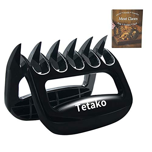 Tetako BBQ Meat Shredder Claws,Kitchen Bear Claws Meat Shredders - Pulled Pork Claws - Great for Chicken, Beef, Pork, More - BPA-Free(Pack of 2) ()