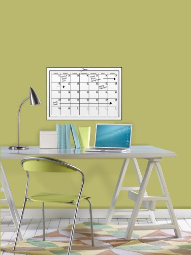 091212502048 - Brewster Wall Pops WPE94575 Peel & Stick White Board with Marker Monthly Calendar carousel main 1
