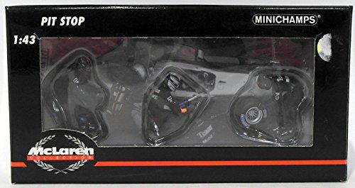 Minichamps 343100043 - Reifenwechsel Set McLaren 2002 ( 3 Figuren/ 1 Hinterrad )