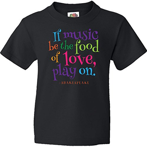 Inktastic Big Girls' Twelfth Night Shakespeare Quote Youth T-Shirt Youth X-Small (2-4) Black