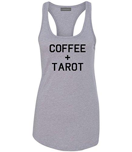 Coffee And Tarot Cards Racerback Tank Top Heather Grey Medium (870 Graphics Card)