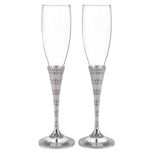 - Hortense B. Hewitt Enchanting Crystal Flutes Wedding Accessories (Set of 2)