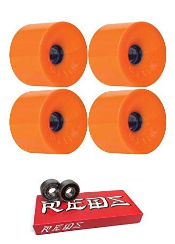 騒々しい複製深い75 mm OJ Wheels ThunderジュースWheels with Bones Bearings – 8 mm Bones Super Redsスケート定格ベアリング – 2アイテムのバンドル